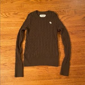 Abercrombie Icon Crew Neck Cable Knit Sweater